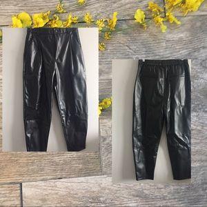 Zara Leather Joggers